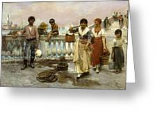 Water Carriers. Venice Greeting Card