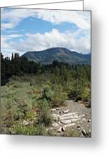 Water-carved Base Rock And Mt Baldy Greeting Card