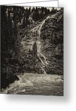 Water Cascade Along The Animas River Colorado Dsc07657 Greeting Card