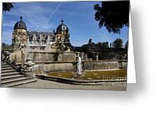 Water Cascade Palace Seehof Greeting Card