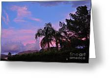 Water Colored Sky Greeting Card