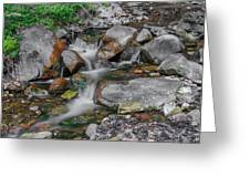 Water Coloured Rocks Greeting Card