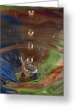 Water Drop Abstract 5 Greeting Card