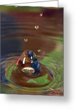 Water Drop Abstract 6 Greeting Card