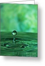 Water Drop Green Greeting Card