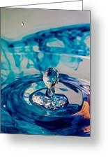 Water Drop In Blu Greeting Card
