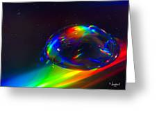 Water Drop Greeting Card by Naushad  Waheed