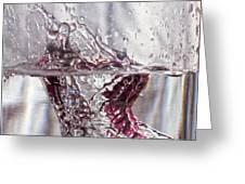 Water Drops Abstract  Greeting Card
