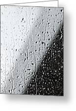Water Drops On A Window Greeting Card