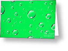 Water Drops On Green Greeting Card
