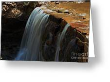 Water Fall At Seven Falls Greeting Card by Robert D  Brozek