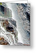 Water Fall Off Mt. Wilson Colorado Greeting Card