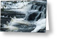 Water Fall On The River Greeting Card