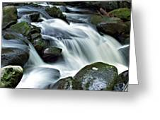 Water Flowsthrough The Mountains Greeting Card