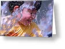Water Fountain Joy Three Greeting Card