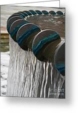 Water Fountain Natural Art In Progress Greeting Card