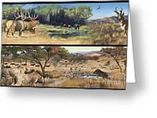 Water Hole Safari Greeting Card