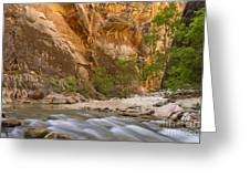 Water In The Narrows Greeting Card