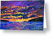 Water Island Sunset Greeting Card