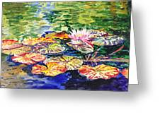 Water Lilies Greeting Card