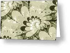 Water Lilies Spirals Greeting Card