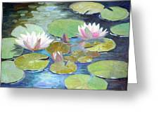Water Lily Cluster Greeting Card