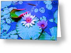 Water Lily I Greeting Card by Ann Johndro-Collins