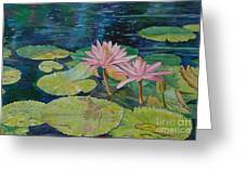Water Lily In The Morning Greeting Card