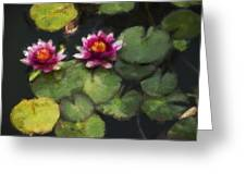 Water Lily Neo Greeting Card