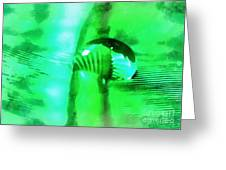 Water Meets Feather Greeting Card