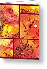 Water On Color Collage Eight Greeting Card