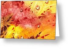 Water On Color Design Nine Greeting Card