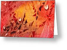 Water On Color Design Seven Greeting Card