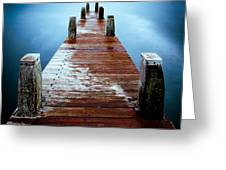 Water On The Jetty Greeting Card