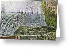 Water Over A Dam Greeting Card