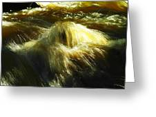 Water  Over Rock Greeting Card