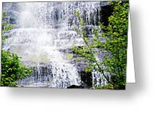 Water Over Rocks At Misty Fjords National Monument-alaska Greeting Card