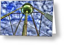 Mary Leila Cotton Mill Water Tower Art  Greeting Card