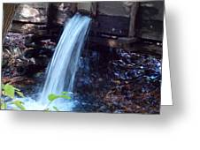 Water Running Fast Greeting Card