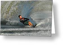 Water Skiing Magic Of Water 13 Greeting Card by Bob Christopher