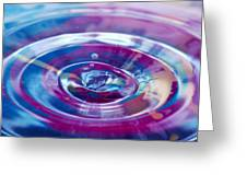 Water Splash Rings Greeting Card