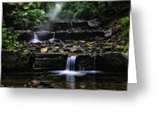 Water Steps In Fairmount Park Greeting Card