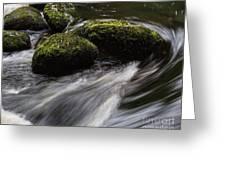 Water Swirl Greeting Card