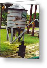 Water Tank Landscape Greeting Card