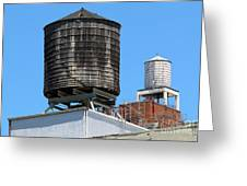 Water Tanks From The High Line Greeting Card