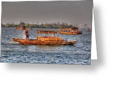 Water Taxi In China Greeting Card