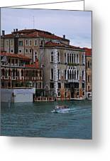 Water Taxi In Venice Greeting Card