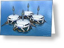 Water Terminal Greeting Card