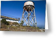 Water Tower Alcatraz Island Greeting Card