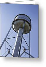Water Tower Deer Lodge Montana Greeting Card